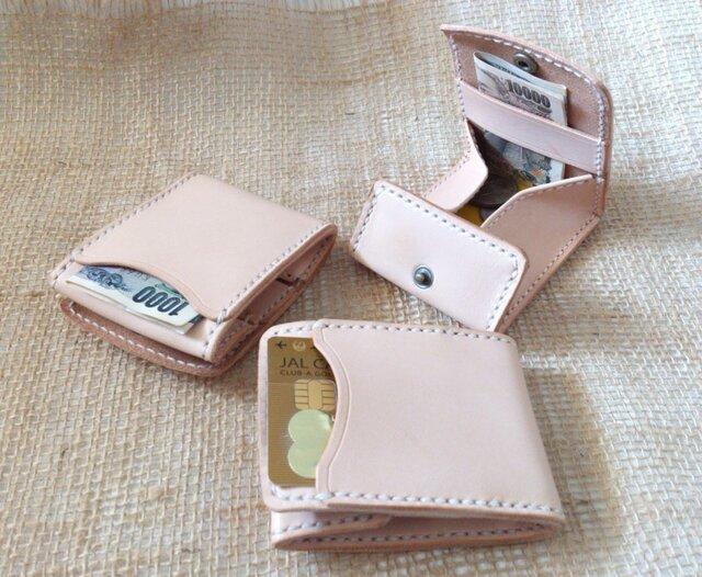 カードとコインの財布Ⅱ両面収納 CC-10W コインケース 生成り 小銭入れの画像1枚目