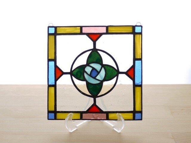 ステンドグラスパネル フラワー Mサイズの画像1枚目