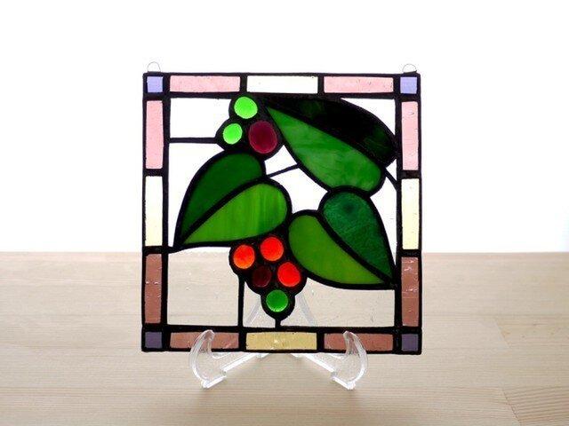 ステンドグラスパネル ガーデン Mサイズの画像1枚目