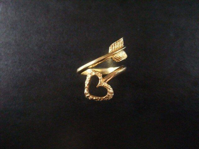 Love Arrow★ハートの矢★リング(Gold)の画像1枚目
