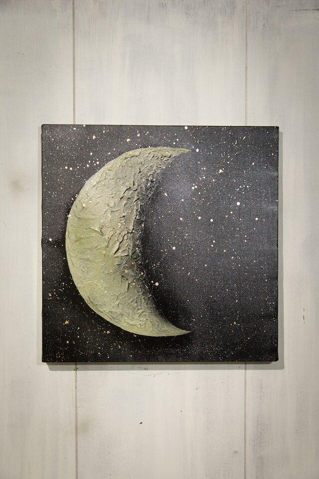 Moon neo / 月のスプレーアート作品の画像1枚目