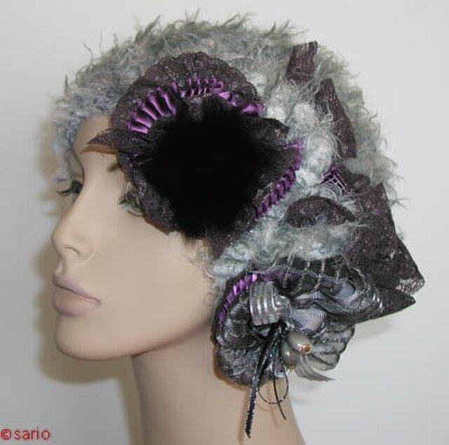 ふわふわグレーの帽子の画像1枚目