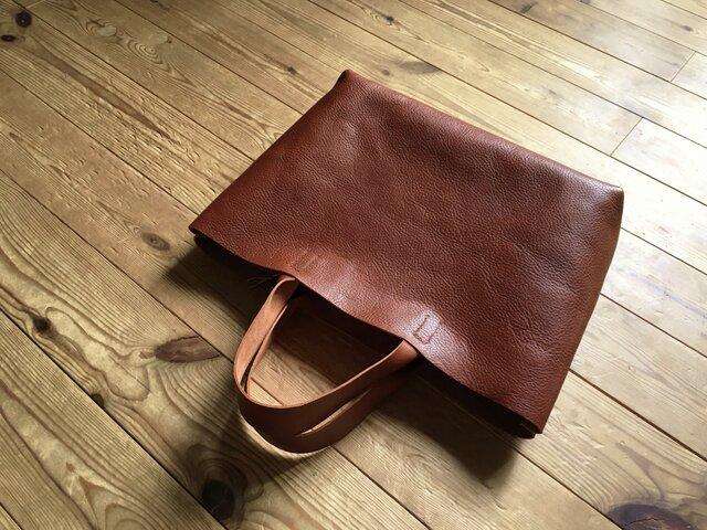 【受注製作品】『tosca』革袋  chestnuts brown M2 肘掛けの画像1枚目