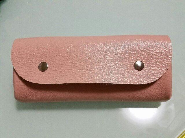 ♡新色♡ アコーディオン♪ 長財布 (ラメ入りピンク)の画像1枚目