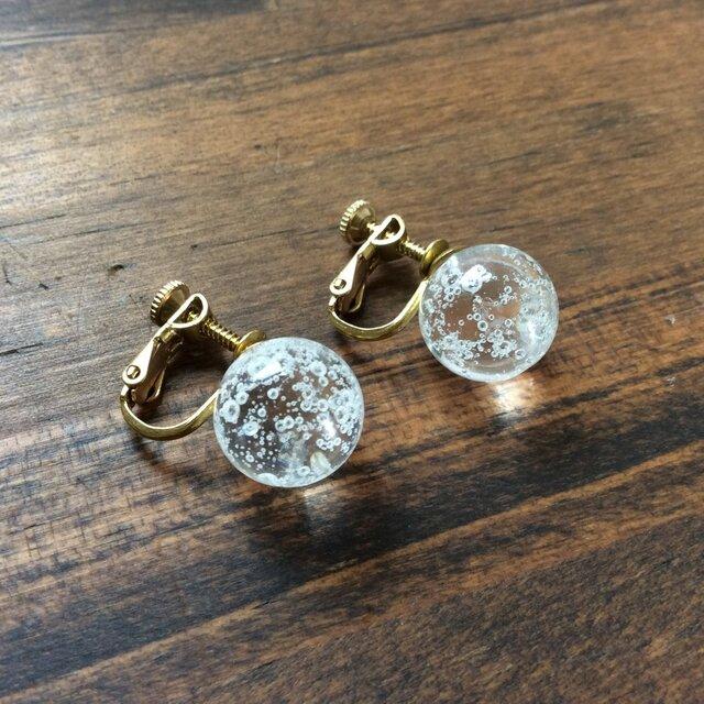 bubble drops earring【ガラスイヤリング】の画像1枚目
