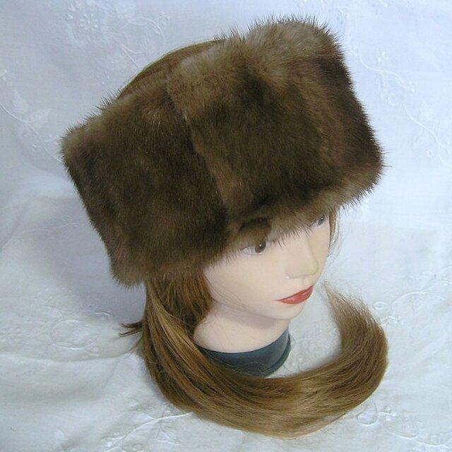 ¶ new antique fur ¶ スカングロウミンクヘッドバンド/スヌード2wayの画像1枚目