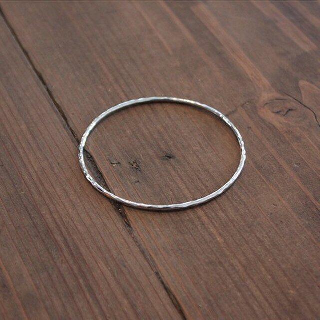 槌目円形棒腕輪 rb-37の画像1枚目