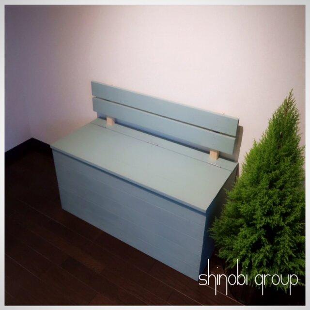 【ミンティ】収納ボックス ベンチ 椅子 棚 北欧スタイルの画像1枚目