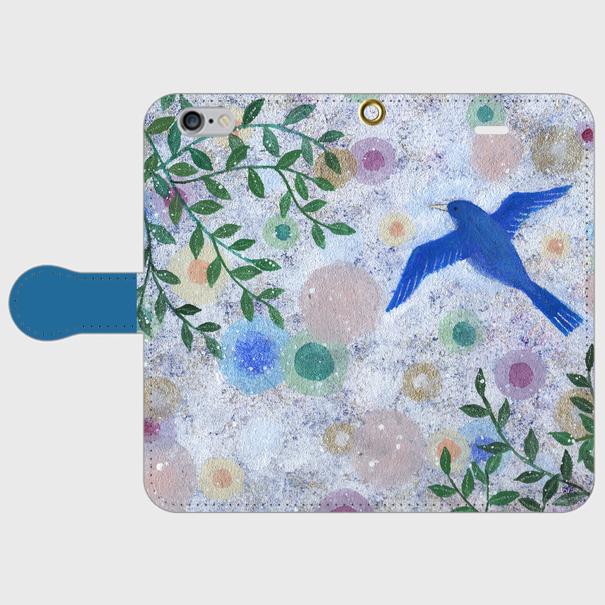 iPhone/手帳型スマホケース「光の中へ」(受注生産)の画像1枚目