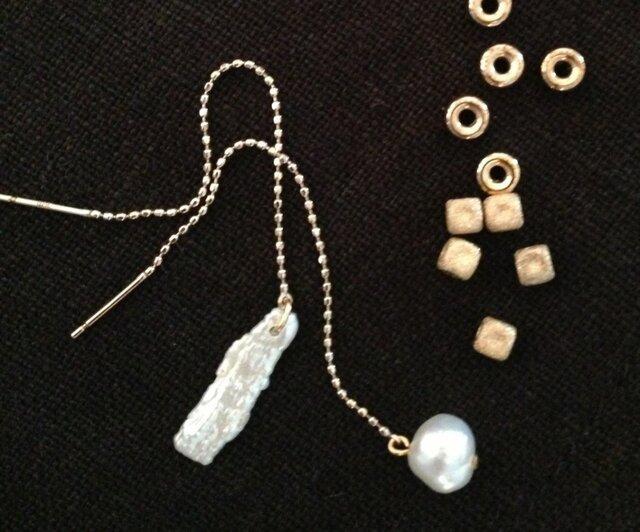 K10 baroque pearl pierceの画像1枚目