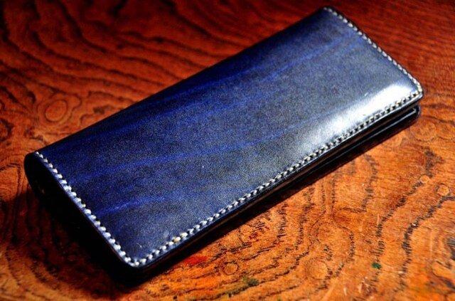 革の宝石・ルガトー・長財布(紺)の画像1枚目