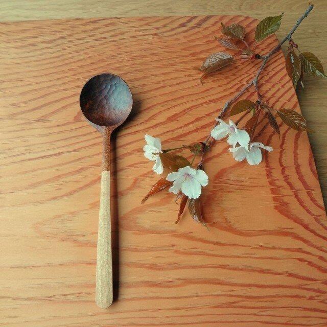 #108 山桜の木のシチュースプーンの画像1枚目