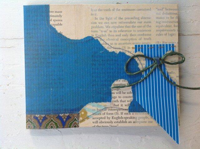 eco-friendlyコラージュのノート+青+の画像1枚目