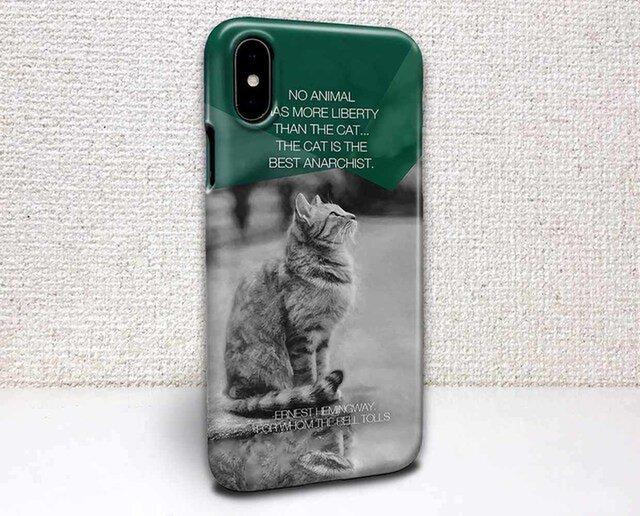 iphone ハードケース iPhoneX iphone8 iphone8 plus 猫 ヘミングウェイの猫とは…の画像1枚目