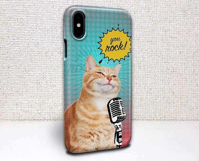 iphone ハードケース iPhoneX iphone8 iphone8 plus iphone7 猫 HEY Rock!の画像1枚目