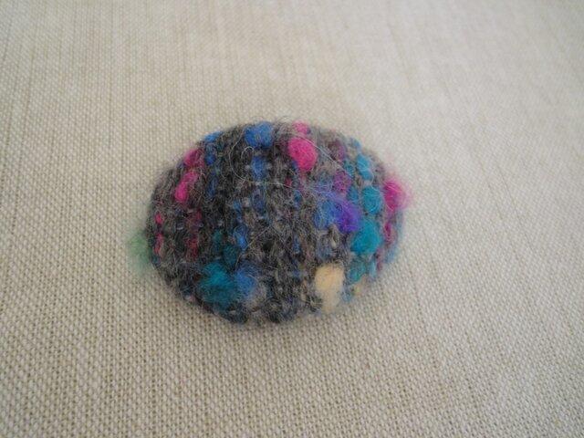 *sale* 秋冬 手織り ブローチ 楕円・1の画像1枚目