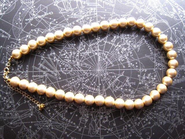 コットンパールのネックレスの画像1枚目