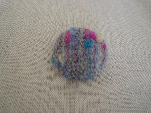 *sale* 秋冬 手織り ブローチ 丸・2の画像1枚目
