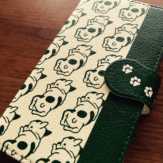 フレンチブルドッグ スマホケース 手帳型 【受注生産】アンドロイド iPhoneの画像1枚目
