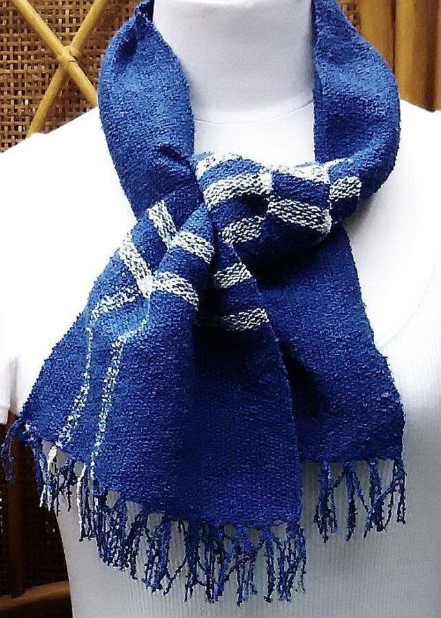 【No.0923】草木染手織りマフラー(絹100%)の画像1枚目