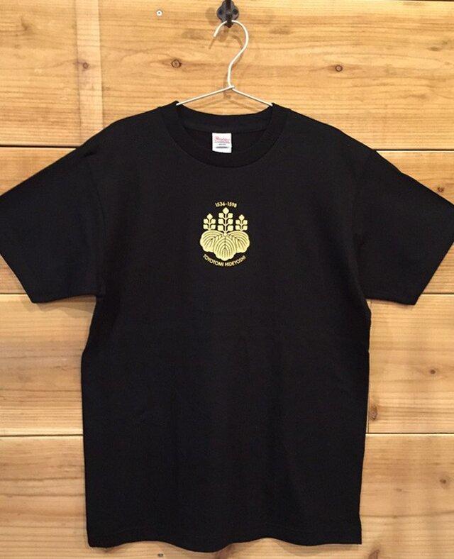 豊臣秀吉 家紋Tシャツの画像1枚目
