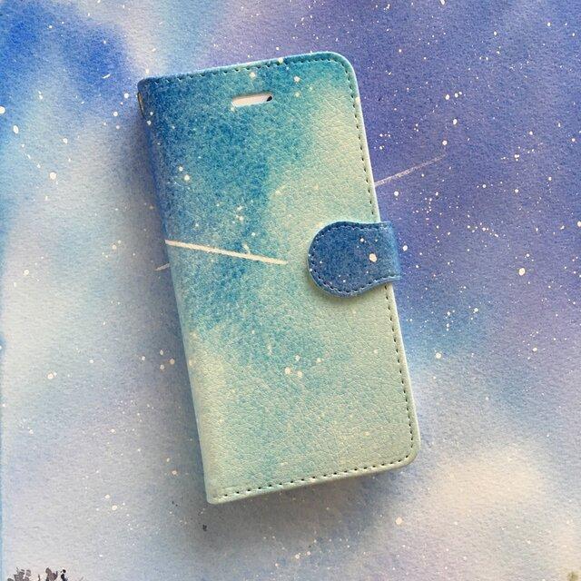 星空 スマホケース 手帳型 【受注生産】アンドロイド iPhoneの画像1枚目