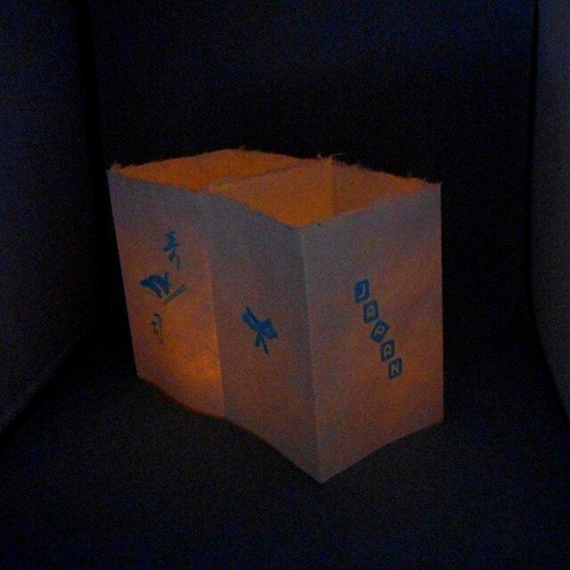 障子ランタン(LEDキャンドル付属)001 [和紙×スクリーン印刷]★お部屋に、和の灯り。の画像1枚目