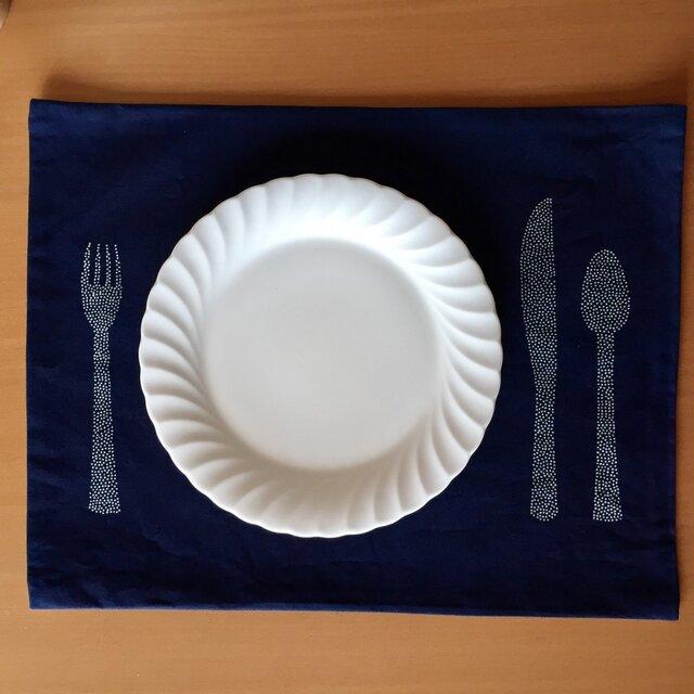 藍染ランチョンマットの画像1枚目