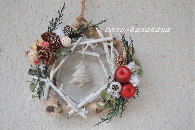 白枝の五角形wreath*ツリーの画像1枚目