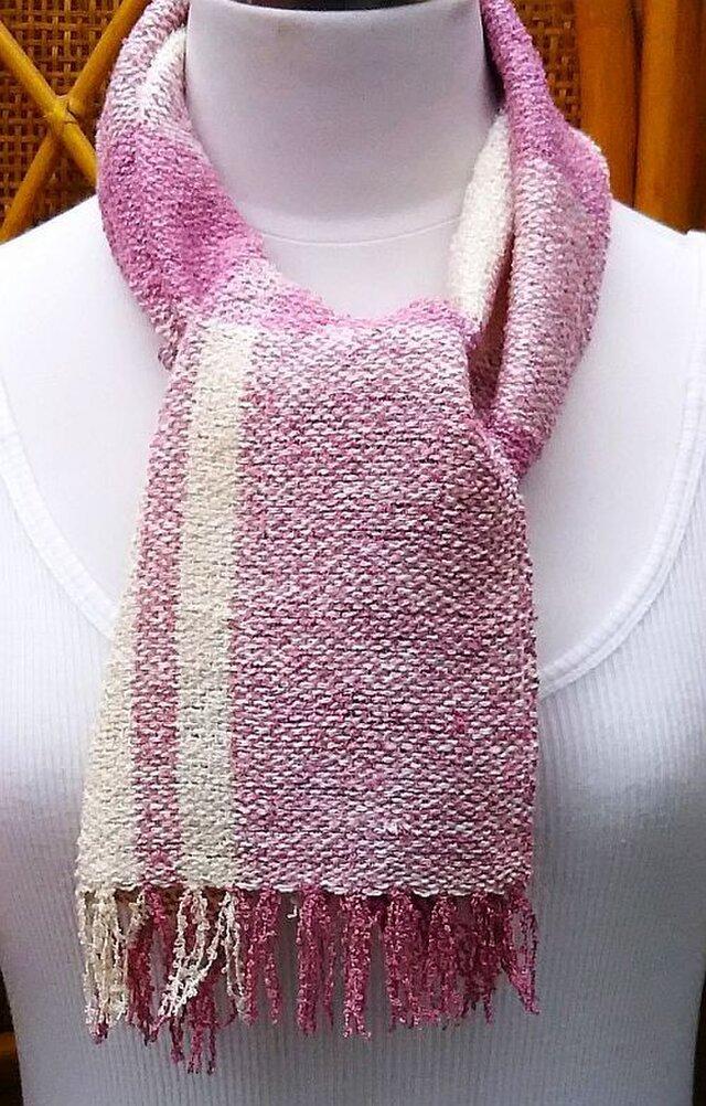 【No.0862】草木染手織りマフラー(絹100%)の画像1枚目