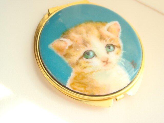 七宝 コンパクトミラー子猫 の画像1枚目