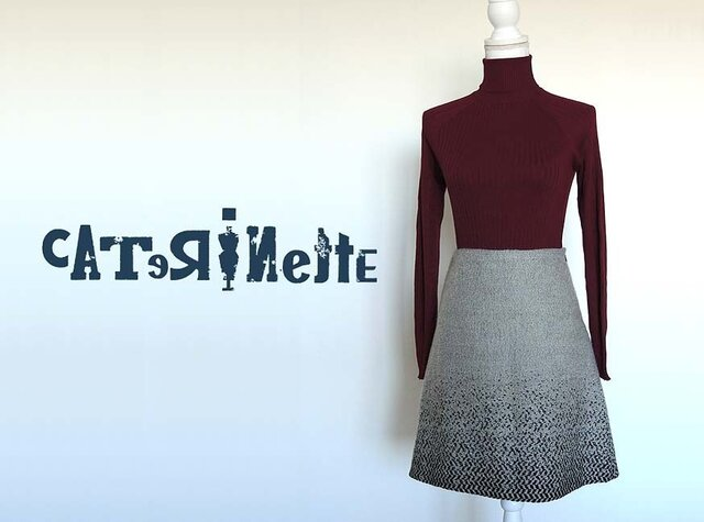 [一点もの]イタリア人作家の秋冬・北欧テイストのスカートの画像1枚目