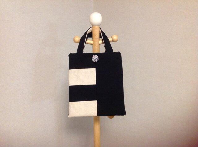 帆布の綿入りフラットバッグの画像1枚目