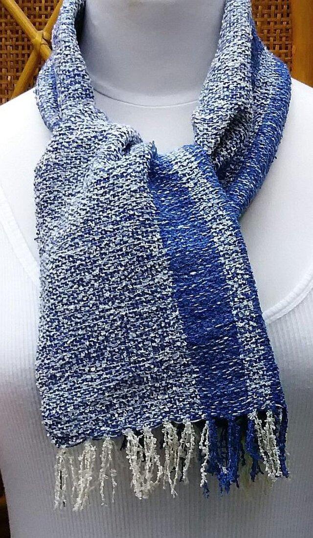 【No.0878】草木染手織りマフラー(絹100%)の画像1枚目