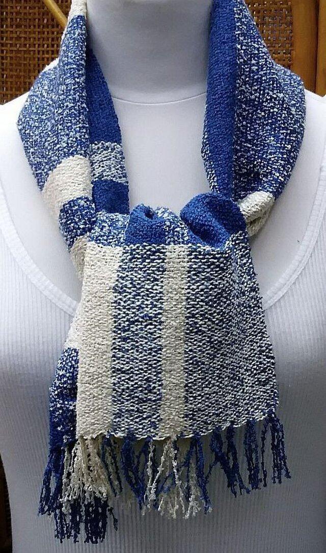 【No.0854】草木染手織りマフラー(絹100%)の画像1枚目