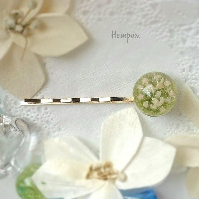 かすみ草のヘアピン ホムポムの画像1枚目
