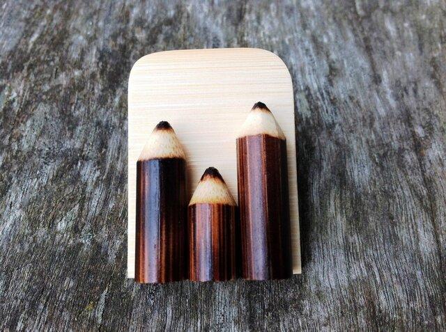竹製えんぴつのマグネットの画像1枚目