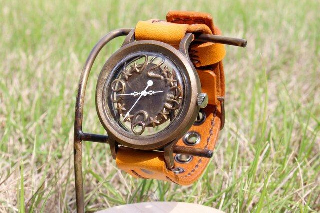 手作り腕時計 Via Aurelia(レトロスケルトン &Brown )の画像1枚目