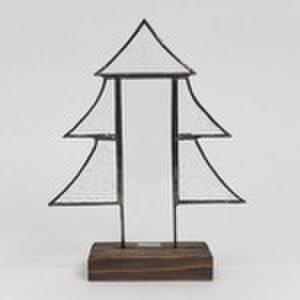 ステンドグラス クリスマスツリー ベベルクリアーの画像1枚目