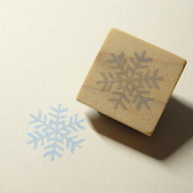 雪の結晶のはんこ 2の画像1枚目
