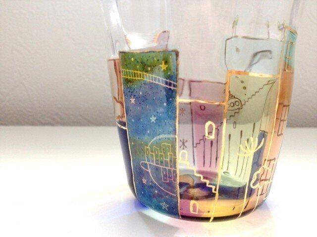 降っても晴れてもの街(宇宙+潜水艦)グラスの画像1枚目