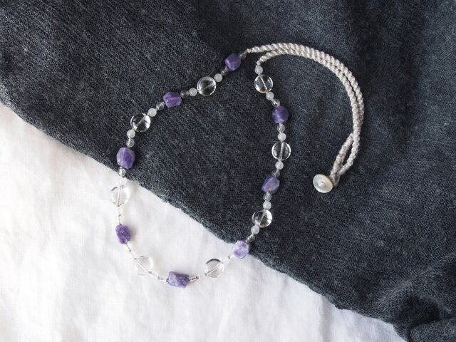 Purple&Clear Necklaceの画像1枚目