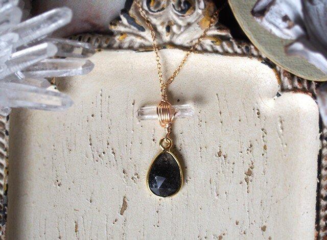 トルマライズクォーツのネックレスの画像1枚目