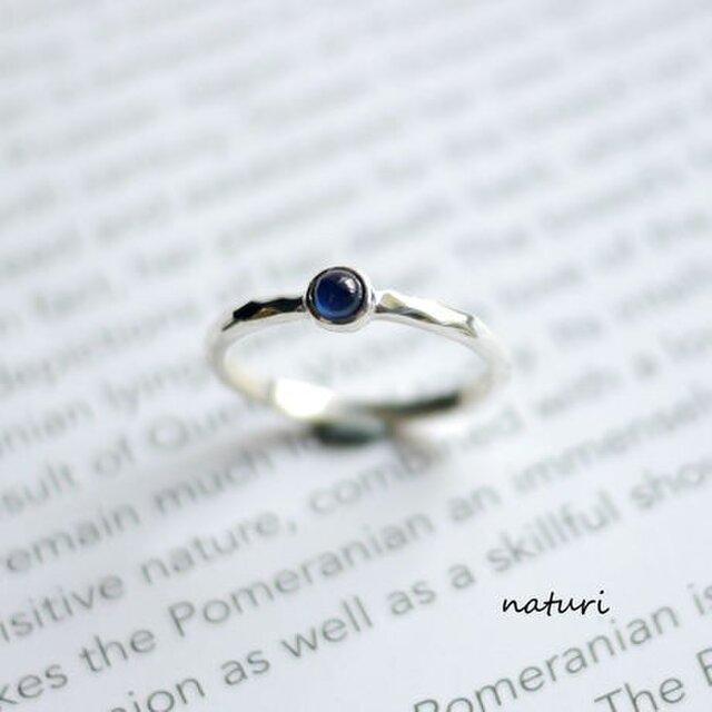 【tronc】sv925 sapphire ringの画像1枚目