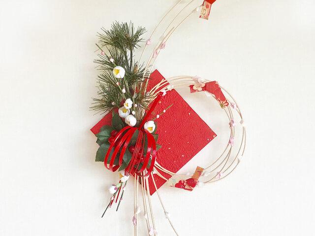お正月飾りもち花リースNYB-05の画像1枚目
