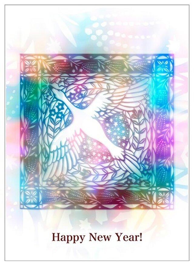 Atelier TanTan / 切絵デザインの年賀状/ 酉年 / 30枚入の画像1枚目