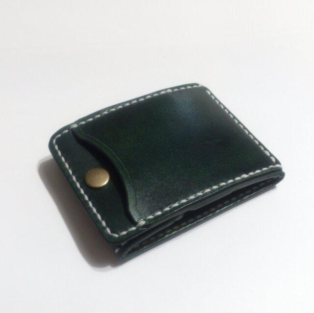 カードとコインの財布Ⅱ CC-11 コインケース ヌメ革 ディープグリーンの画像1枚目