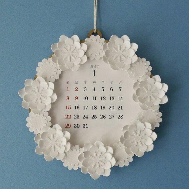 2017 Wreath Calendar リース カレンダーの画像1枚目