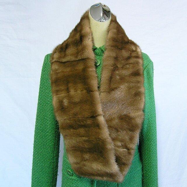 ¶ new antique fur ¶ パステルミンクファーnejiriロングスヌード「eona」の画像1枚目