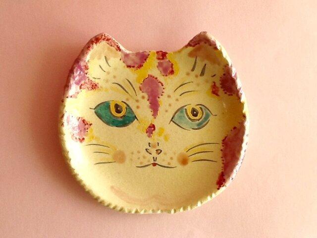 ねこ皿 桃トラ子の画像1枚目